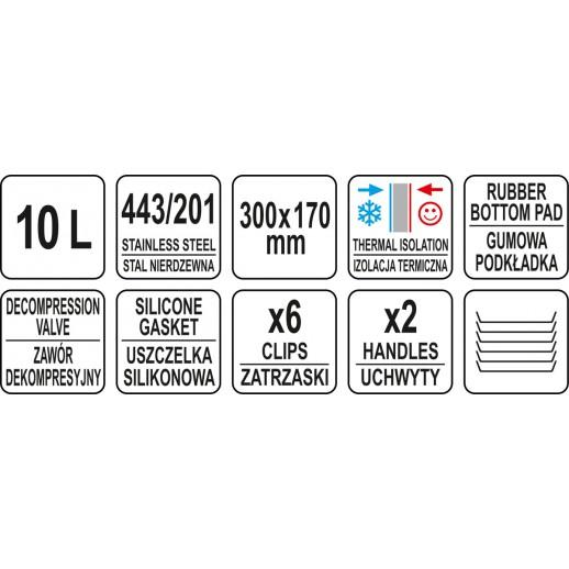 TERMOS PENTRU TRANSPORT, 10L, 300X170MM
